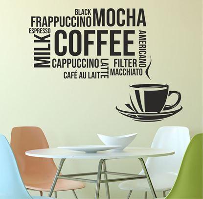"""Picture of """"Coffee Mocha....""""  Wall Art sticker"""