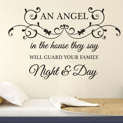 """Picture of """"An Angel in the house...""""  Wall Art sticker"""