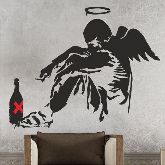 Picture of Banksy Fallen Angel Wall Art sticker