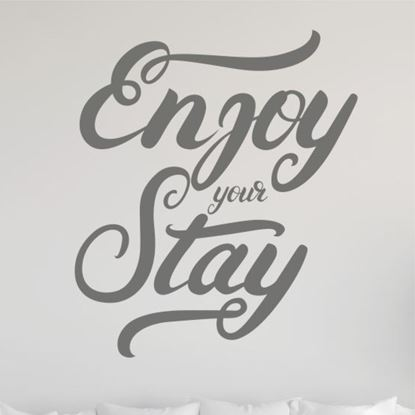 """Picture of """"Enjoy your stay""""  Wall Art sticker"""