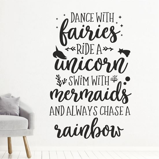 """Picture of """"Dance with Fairies Ride a...""""  Wall Art sticker"""