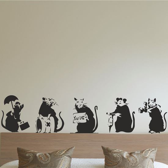 Picture of Banksy Rats Wall Art sticker