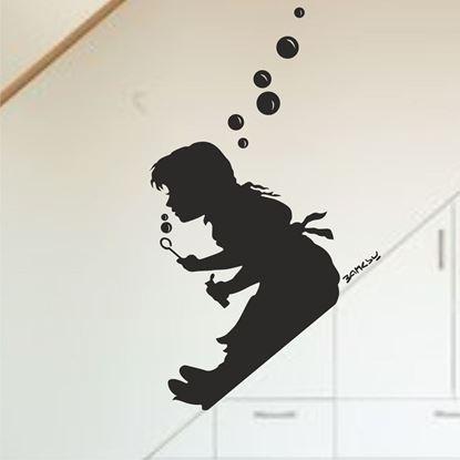 Picture of Banksy Bubble Girl Wall Art sticker
