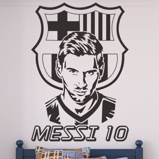 """Picture of """"Messi 10 """" Lionel Messi  Wall Art sticker"""