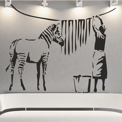 Picture of Banksy Washed Zebra Stripes Wall Art sticker