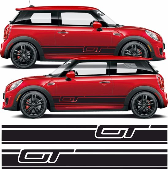 Picture of Mini Hatchback GT side Stripes  / Stickers