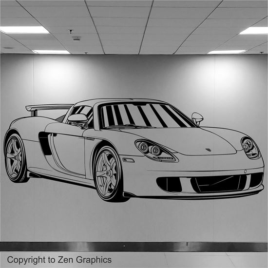 Picture of Porsche Carrera GT Wall Art sticker