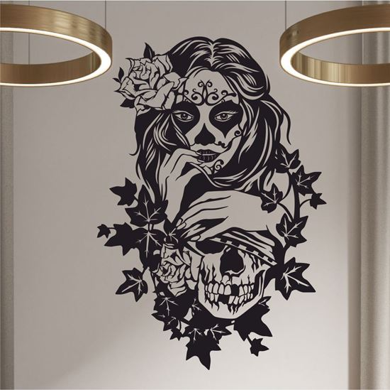 Picture of Tattoo Lady and Skull Wall Art sticker