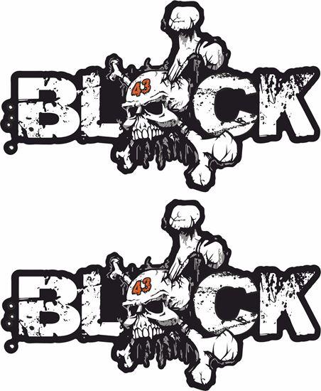 """Picture of Ken Block """"Block 43"""" Decals / Stickers"""