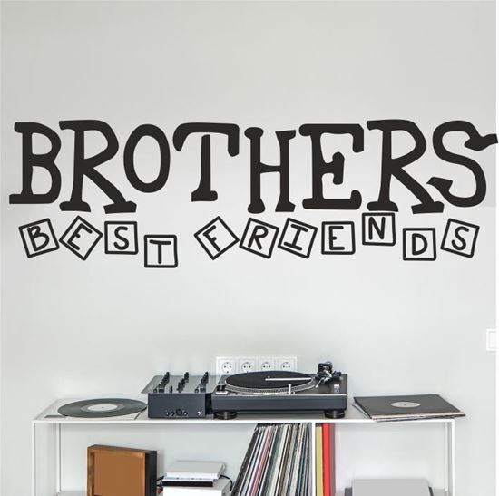 "Picture of ""Brothers best Friends"" Wall Art sticker"
