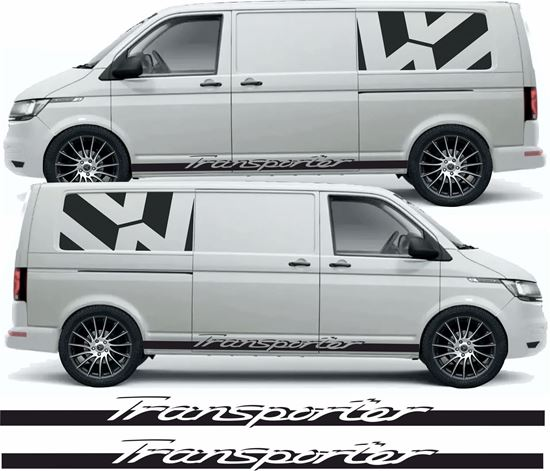 """Picture of VW T5 / T6 """"Transporter"""" side Stripes / Stickers"""