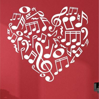 Picture of Music note Heart  Wall Art sticker
