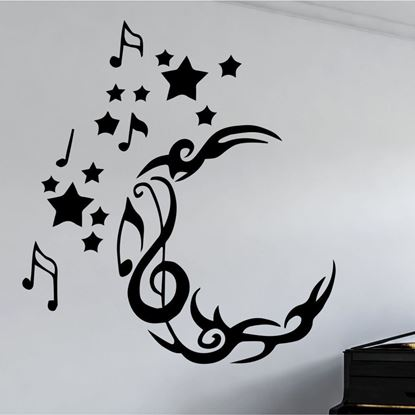 Picture of Music note Moon Wall Art sticker