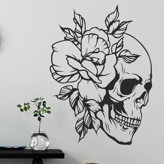 Picture of Skull & Rose Wall Art sticker