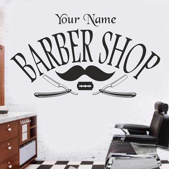 """Picture of """"Barber Shop""""Wall Art sticker"""