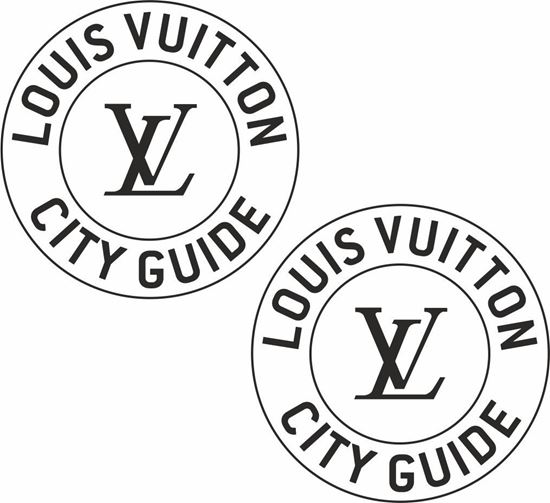 Picture of louis vuitton City Guide panel Decals /Stickers