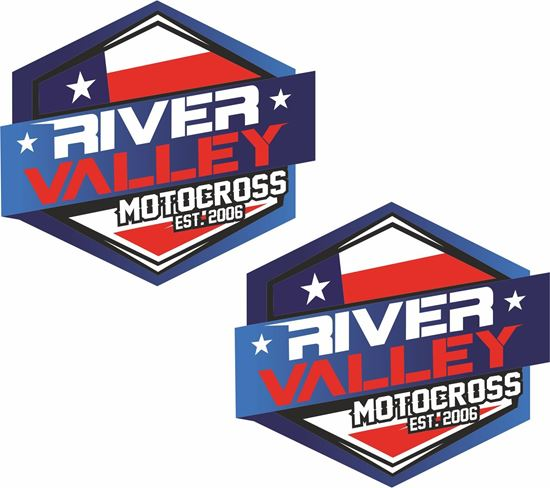 """Picture of """"River Valley Motocross"""" Decals / Stickers"""
