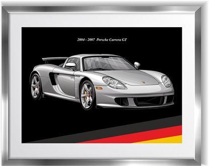 Picture of Porsche Carrera GT Wall Frame Art Print