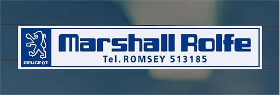 Picture of Marshall Rolfe - Romsey Dealer rear glass Sticker
