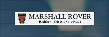Picture of Marshall Rover - Bedford Dealer rear glass Sticker