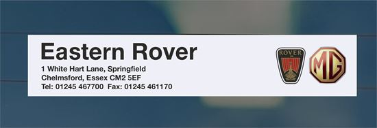 Picture of Eastern Rover  - Essex Dealer rear glass Sticker