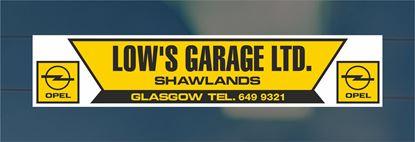 Picture of Low's Garage Ltd  - Shawlands Dealer rear glass Sticker
