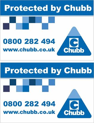 Picture of Chubb Security Decals / Stickers