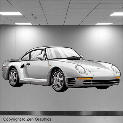 Picture of Porsche 959 Wall Art sticker (Full colour)
