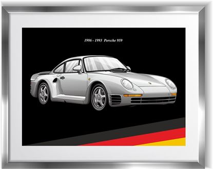 Picture of Porsche 959 Wall Frame Art Print