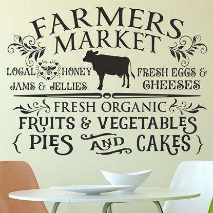 "Picture of ""Farmers Market""  Wall Art sticker"