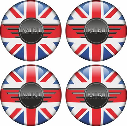 Picture of Mini Union Jack Wheel Centre Gel Badges