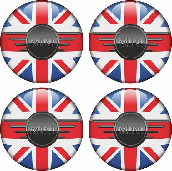 Picture of Mini Union Jack Wheel Centre Gel Badges