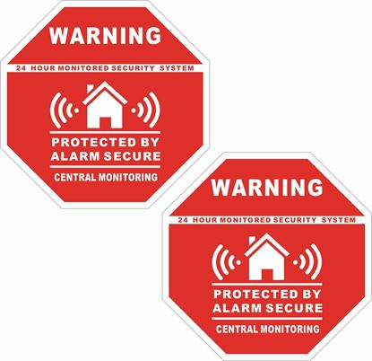 Picture of Alarm Secure Decals / Stickers