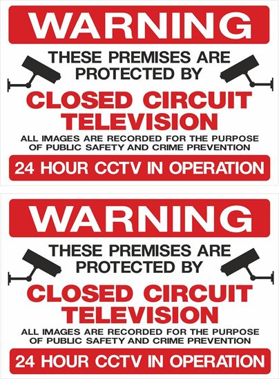 Picture of Warning Closed Circuit Television Decals / Stickers