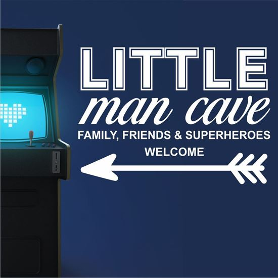 "Picture of ""Little Man Cave..."" Wall Art sticker"