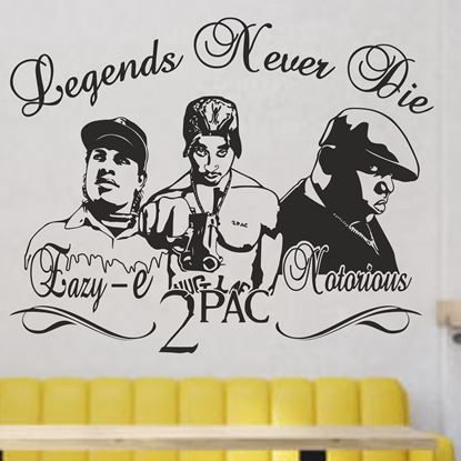 """Picture of """"Legends Never Die...""""  Wall Art sticker"""