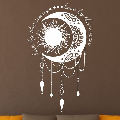 """Picture of """"Live by the Sun Love by the Moon""""  Wall Art sticker"""
