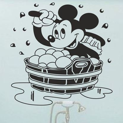 """Picture of """"Mickey Mouse Bath""""  Wall Art sticker"""