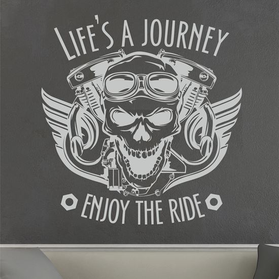 """Picture of """"Life's a Journey enjoy the ride""""  Wall Art sticker"""