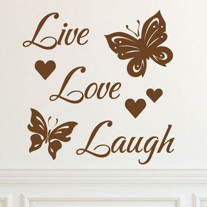 """Picture of """"Live, Love, Laugh""""  Wall Art sticker"""