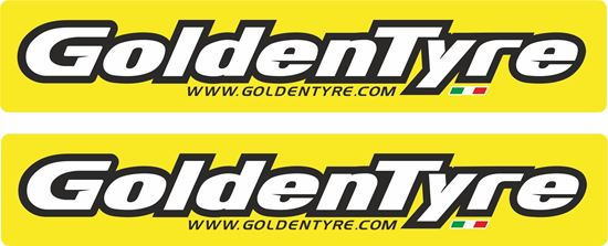 "Picture of ""Golden Tyre"" Decals / Stickers"