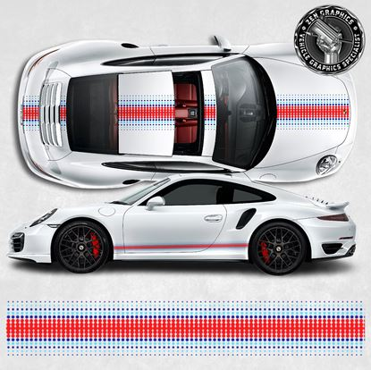 Picture of 991 Martini theme over the top and side Stripes