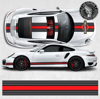 Picture of 991 Martini over the top & side Stripes