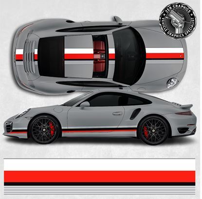 Picture of 991 Lemans theme over the top & side Stripes
