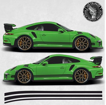 Picture of 992 / 991 / 997 / 996 side Stripes (Fits all 911 variants)