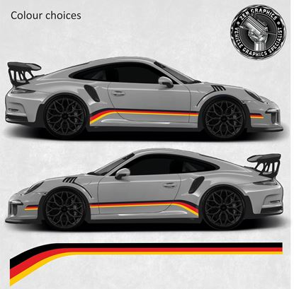 Picture of Tri Colour Stripes - Colour choices (Fits all 911 Variants)