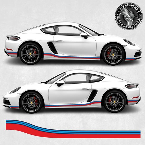 Picture of 718 Cayman / Boxster Martini side  Stripes