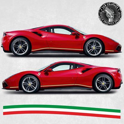 Picture of Ferrari 488 GTB Italia side Stripes
