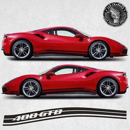 Picture of Ferrari 488 GTB side Stripes