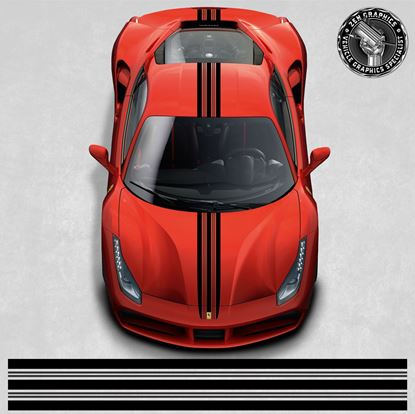 Picture of Ferrari 488 GTB over the top Stripes (Two Colour)
